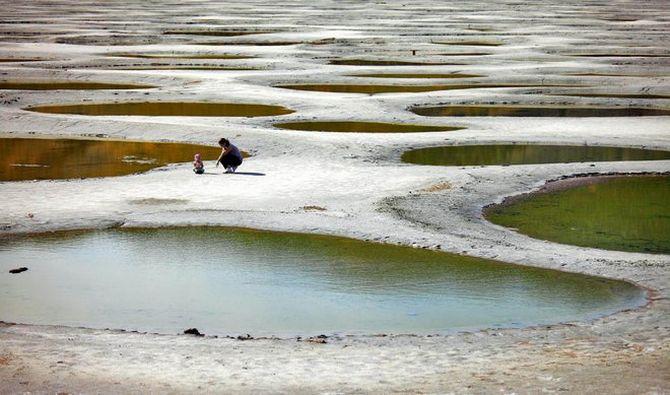Споттед-Лейк. Пятнистое озеро Клилук в Канаде