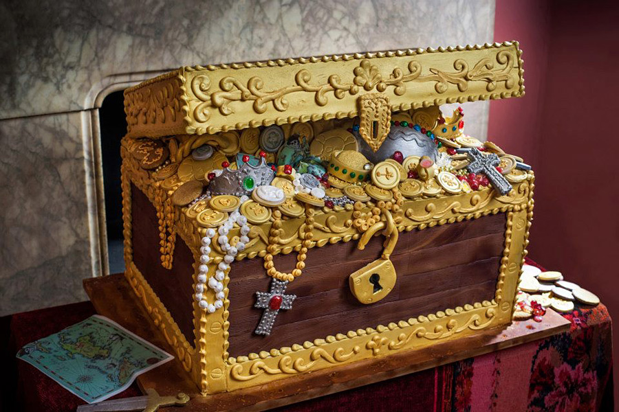 Сундук с сокровищами на свадьбу