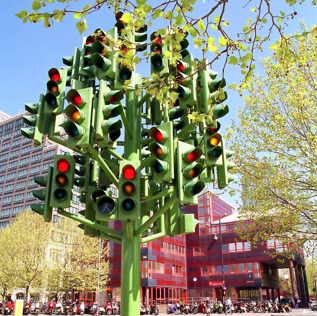 Светофорное дерево в Лондоне