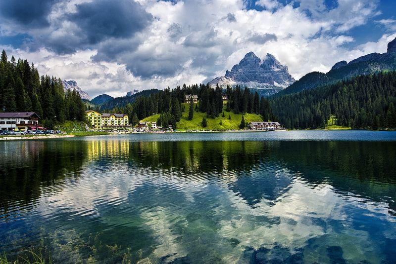 Озеро Мизурина (Lago di Misurina), Венето, Италия