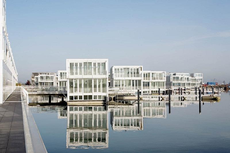 Плавучие дома в Эйбурге, Амстердам, Нидерланды