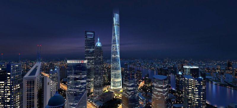 Шанхайская башня (Shanghai Tower), небоскрёб,
