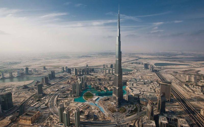 Самое высокое здание в мире - Бурдж-Халифа (Burj Khalifa)