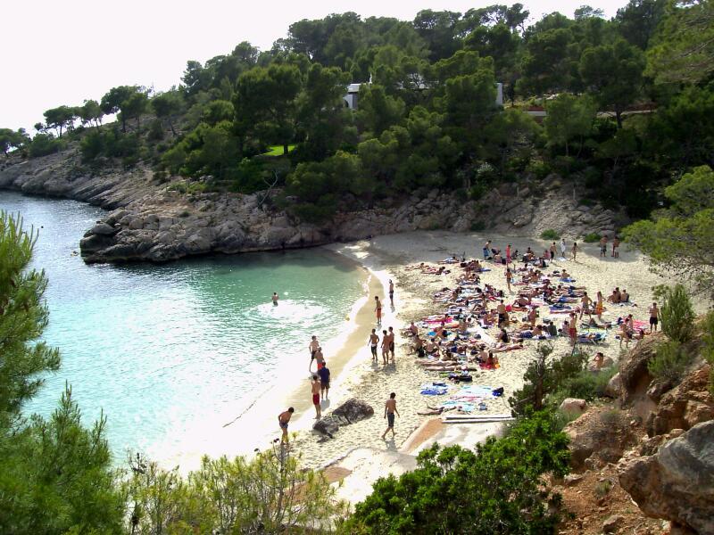 Кала-Салада (Cala Salada), Остров Ибица, Испания