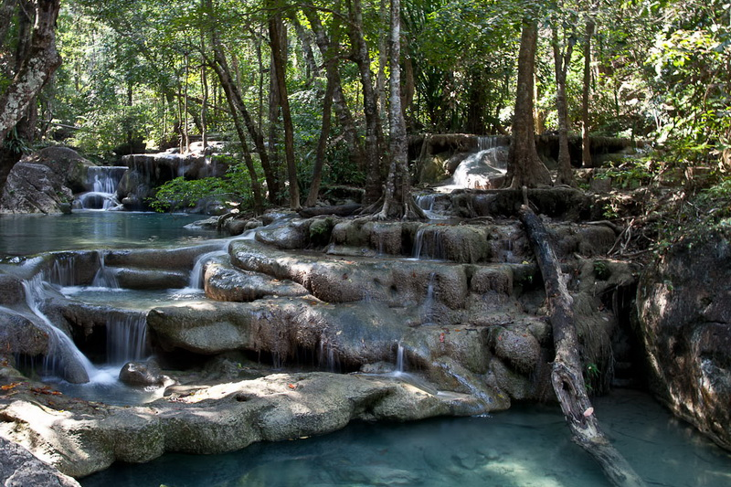 Водопад Эраван (Erawan Waterfall), Таиланд, провинция Канчанабури