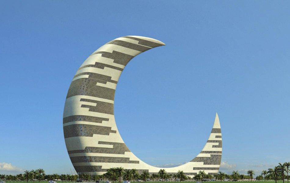 Небоскреб-полумесяц (Crescent Moon Tower) Дубай, ОАЭ