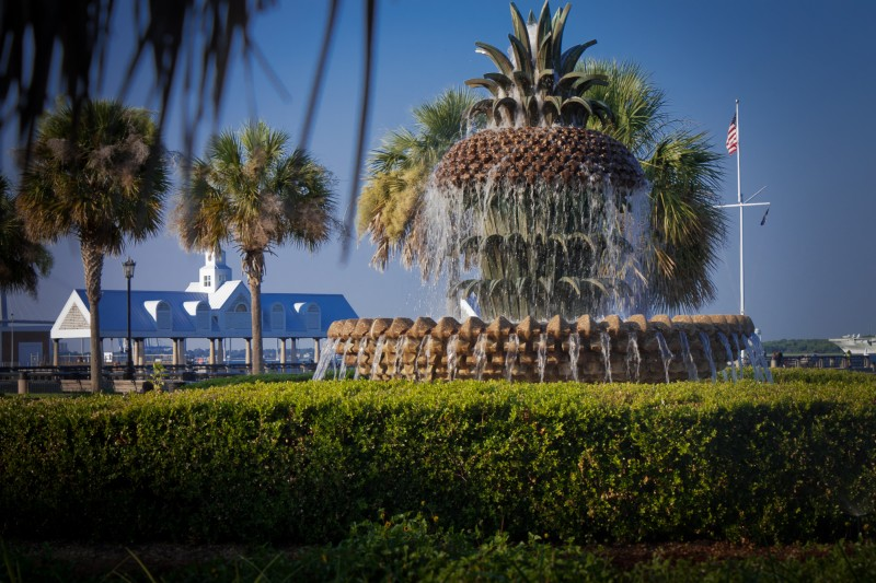 Фонтан-ананас (Pineapple Fountain) Чарльстон, США