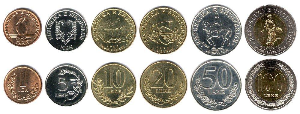 Албанские деньги 1 дирам 2011 таджикистан