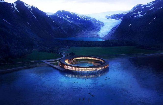 Арктический эко-отель Svart в Норвегии